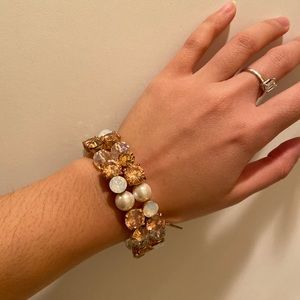Cristal and pearl bracelet